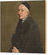 Portrait Of A Priest Wood Print