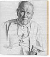 Portrait Of A Saint Wood Print by Smith Catholic Art