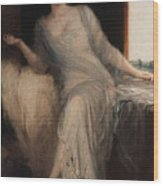 Portrait Of A Seated Woman Wood Print