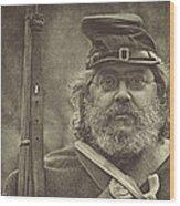 Portrait Of A Union Soldier Wood Print by Pat Abbott