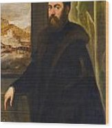 Portrait Of A Venetian Senator Wood Print