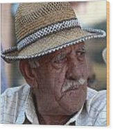 portrait of a villager Selcuk Turkey Wood Print