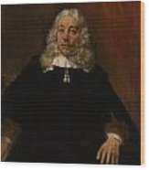Portrait Of A White-haired Man Wood Print