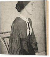 Portrait Of A Woman, C1895 Wood Print