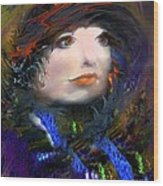 Portrait Of A Woman From A Long Time Ago Wood Print by Doris Wood