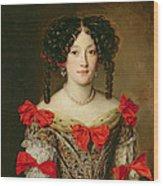 Portrait Of A Woman Wood Print by Jacob Ferdinand Voet
