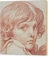 Portrait Of A Young Boy Wood Print
