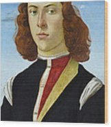 Portrait Of A Young Man Ghirlandaio Wood Print