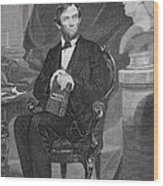 Portrait Of Abraham Lincoln Wood Print by Alonzo Chappel