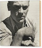 Portrait Of Actor James Cagney Wood Print