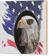 Portrait Of America Wood Print by Tom Mc Nemar