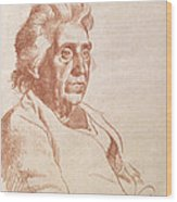 Portrait Of An Old Lady, 1938 Wood Print