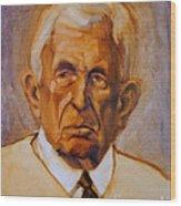 Portrait Of An Older Man Wood Print