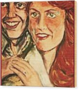 Portrait Of Andrew And Sarah Wood Print