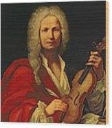 Portrait Of Antonio Vivaldi Wood Print