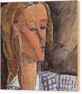 Portrait Of Beatrice Hastings Wood Print