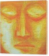 Portrait Of Buddha Wood Print