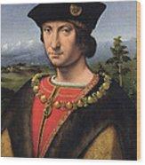 Portrait Of Charles Damboise 1471-1511 Marshal Of France Oil On Panel Wood Print