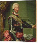 Portrait Of Charles IIi 1716-88 C.1761 Oil On Canvas Wood Print