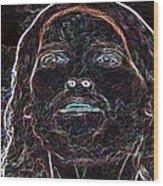 Portrait Of Christ Wood Print