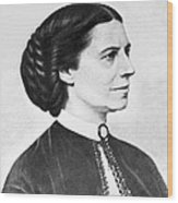 Portrait Of Clara Barton Wood Print