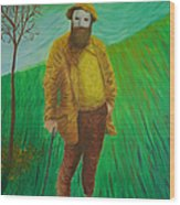 Portrait Of Claude Monet Wood Print