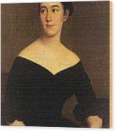 Portrait Of Cornelia Knott Miltenberger Wood Print