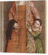Portrait Of Countess Livia Da Porto Thiene And Her Daughter Deidamia Wood Print