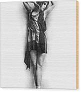 Portrait Of Dancer Agnes Boone Wood Print