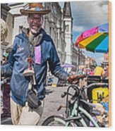 Portrait Of Doctor Luv In New Orleans Wood Print