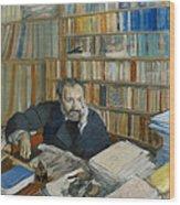 Portrait Of Edmond Duranty, 1879 Wood Print
