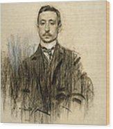 Portrait Of Eduardo Chicharro Wood Print