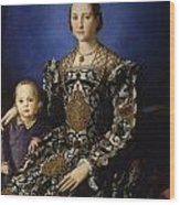 Portrait Of Eleanor Of Toledo With Her Son Giovanni De' Medici Wood Print