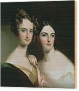 Portrait Of Ellen And Mary Mcilvaine, 1834 Oil On Canvas Wood Print