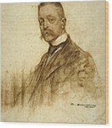 Portrait Of Emile Bertaux Wood Print