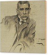 Portrait Of Emili Sala Wood Print