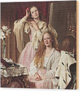 Portrait Of Emma And Frederica Bankes Wood Print