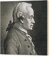 Portrait Of Emmanuel Kant Wood Print