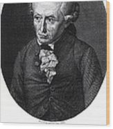 Portrait Of Emmanuel Kant  Wood Print by German School