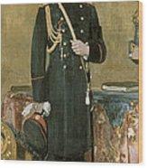 Portrait Of Emperor Nicholas II 1868-1918 1895 Oil On Canvas Wood Print