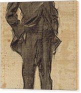 Portrait Of Ezequiel Boixet Wood Print
