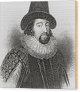 Portrait Of Francis Bacon Wood Print by English School