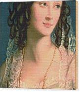 Portrait Of Furstin Susupolt Wood Print