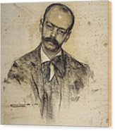 Portrait Of Gabriel Alomar Wood Print