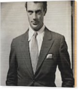 Portrait Of Gary Cooper Wearing A Suit Wood Print
