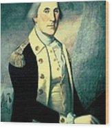 Portrait Of George Washington Wood Print by James the Elder Peale