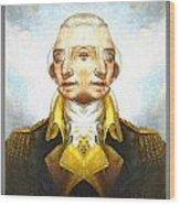 Portrait-of-george Washington Vert  2  Wood Print