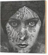 Portrait Of Gloria Swanson Behind Lace Wood Print