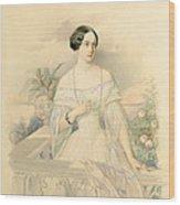 Portrait Of Grand Duchess Olga Nikolaevna Wood Print by Vladimir Ivanovich Hau