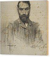 Portrait Of Gustave Violet Wood Print
